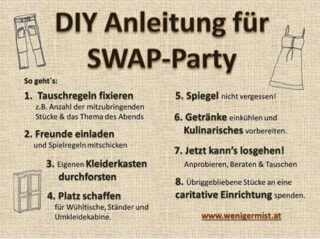 Anleitung Swap-Party